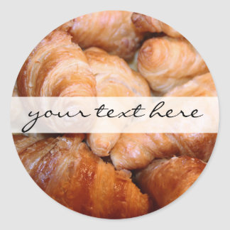 Delicious classic french croissants photograph classic round sticker