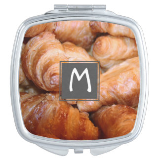 Delicious classic french croissants photograph compact mirrors