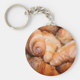 Delicious classic french croissants photograph key ring