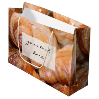 Delicious classic french croissants photograph large gift bag