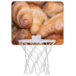 Delicious classic french croissants photograph mini basketball hoop