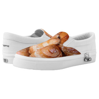 Delicious classic french croissants photograph slip on shoes
