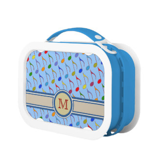 delicious color music notes lunch box