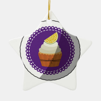 Delicious cup cake ceramic ornament