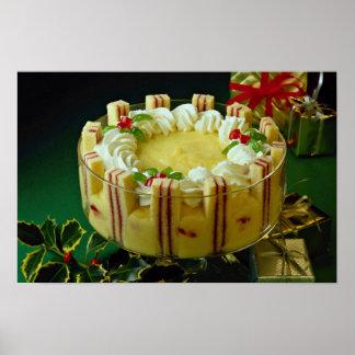 Delicious Custard, cake dessert Print