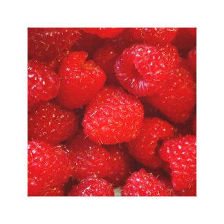 Delicious cute dark pink raspberry photograph canvas print