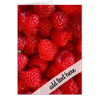 Delicious cute dark pink raspberry photograph card