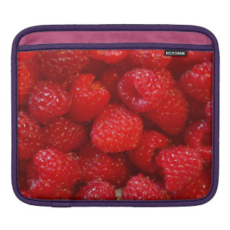 Delicious cute dark pink raspberry photograph iPad sleeve