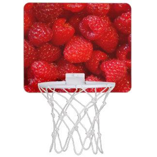 Delicious cute dark pink raspberry photograph mini basketball hoop