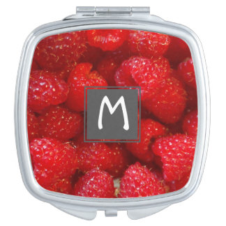Delicious cute dark pink raspberry photograph mirrors for makeup
