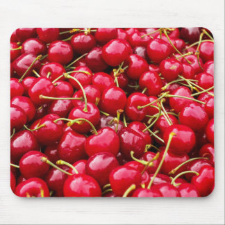 delicious cute red cherry fruits photograph mouse pad