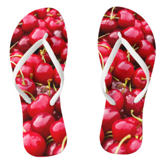 delicious cute red cherry fruits photograph thongs