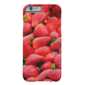 delicious dark pink strawberries photograph barely there iPhone 6 case