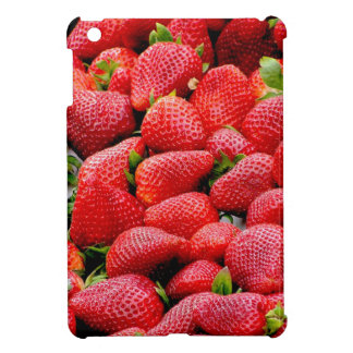 delicious dark pink strawberries photograph iPad mini cases