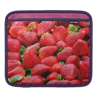 delicious dark pink strawberries photograph iPad sleeve