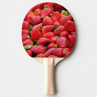 delicious dark pink strawberries photograph ping pong paddle