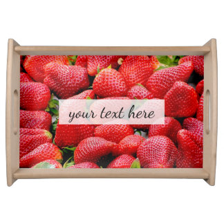 delicious dark pink strawberries photograph serving tray
