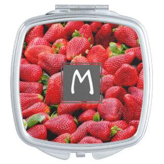 delicious dark pink strawberries photograph vanity mirror