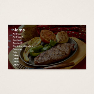 Delicious Deviled beef steak Business Card