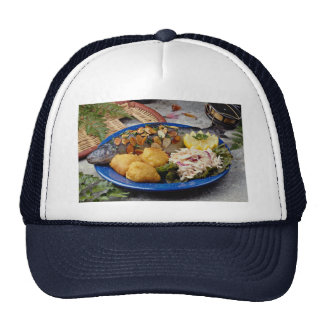Delicious Fish dinner Trucker Hats