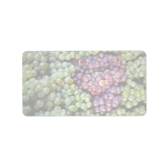 Delicious grapes fruit address label