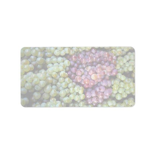 Delicious grapes fruit address label