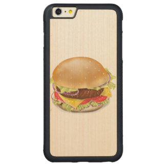 Delicious hamburger or cheeseburger. carved® maple iPhone 6 plus bumper case