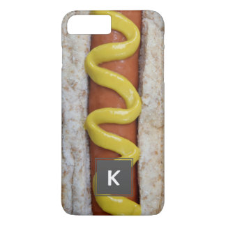 delicious hot dog with mustard photograph iPhone 7 plus case