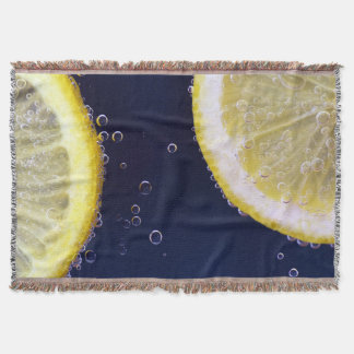 Delicious Lemon Slices in Water Throw Blanket