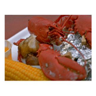 Delicious Lobster with drawn butter, potato and co Postcard