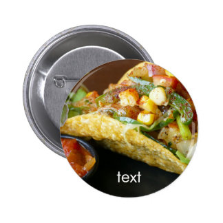 delicious Mexican Tacos photograph 6 Cm Round Badge