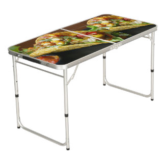 delicious Mexican Tacos photograph Beer Pong Table