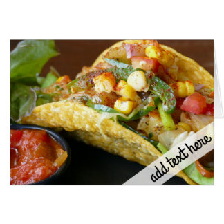 delicious Mexican Tacos photograph Card