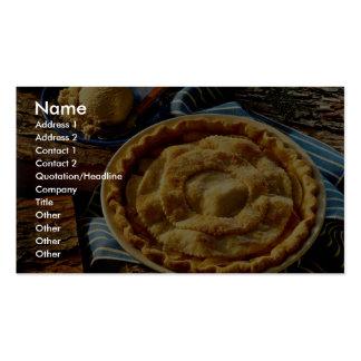 Delicious Peach pie, vanilla ice cream Pack Of Standard Business Cards