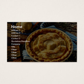 Delicious Peach pie, vanilla ice cream Business Card