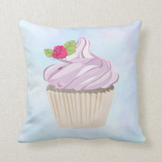Delicious Pink Cupcake Berry on Top Cushion