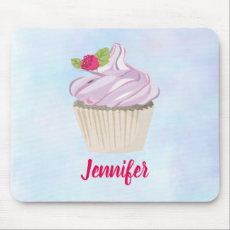 Delicious Pink Cupcake Berry on Top Custom Mouse Pad