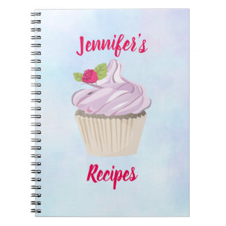 Delicious Pink Cupcake Berry on Top Notebook