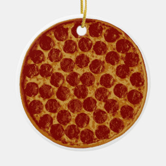 Delicious Pizza Pie Ceramic Ornament