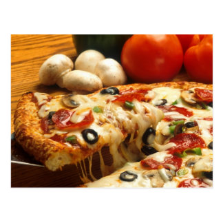 Delicious Pizza Postcard