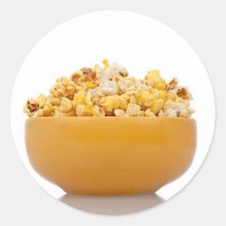 Delicious popcorn classic round sticker