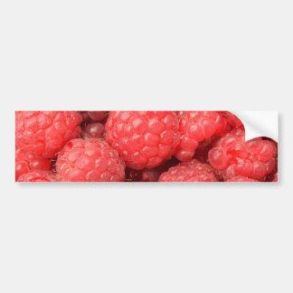 Delicious raspberries food pattern bumper sticker
