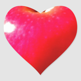Delicious Red Apple Heart Sticker