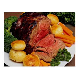 Delicious Roast beef Postcard