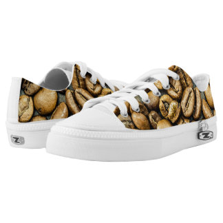 Delicious rustic gold coffee beans low tops