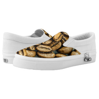 Delicious rustic gold coffee beans Slip-On shoes