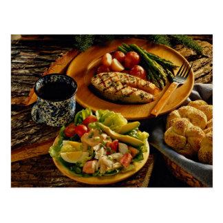 Delicious Salmon dinner Postcard