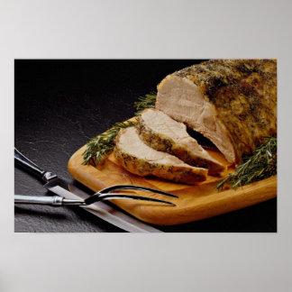 Delicious Sliced pork roast Poster