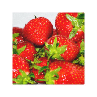 Delicious Strawberries Canvas Print