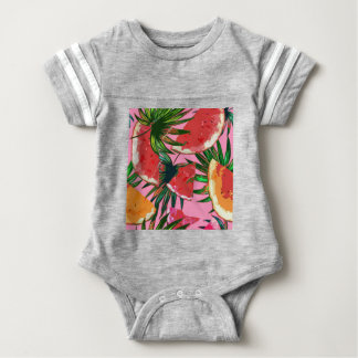 Delicious Summer Fruit Melon tasty Design Baby Bodysuit